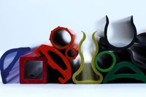 color plastic and rubber