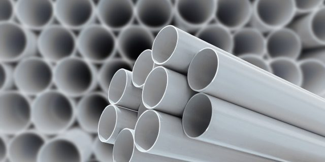 white plastic pipes