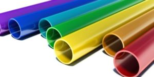 colorful plastic tubing