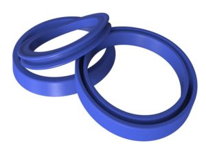 blue rubber molded parts