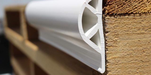 White PVC Dock Bumper Edging