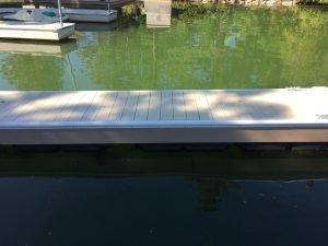 Vinyl white dock bumper